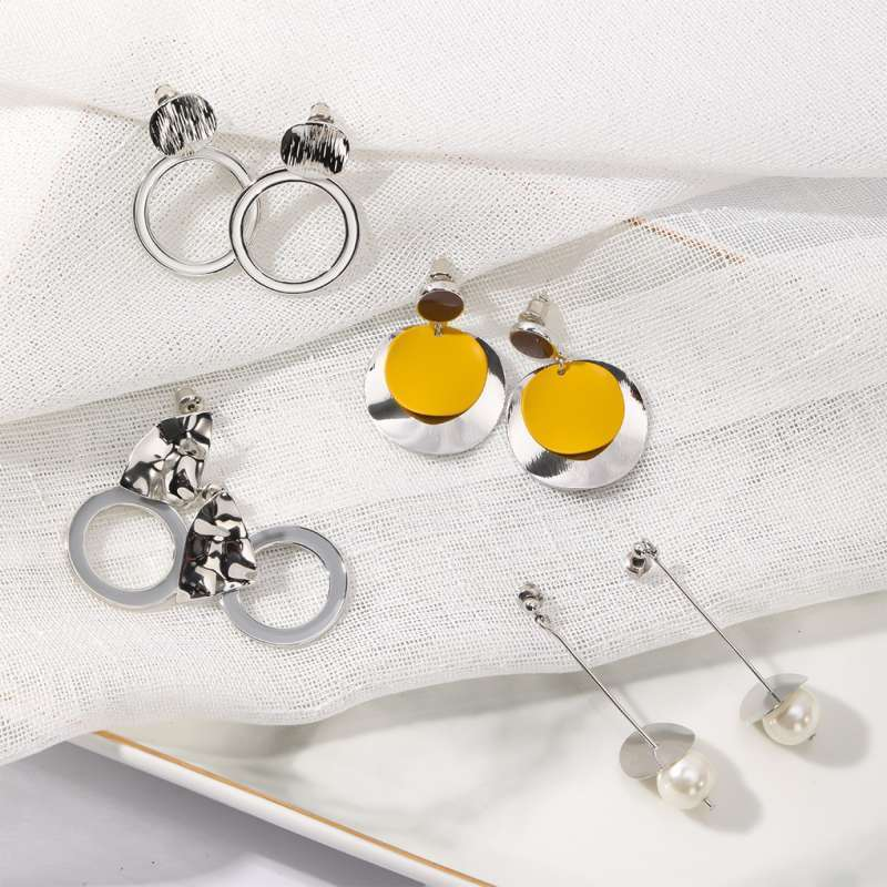 Anting Tusuk Korea Inone Jewellery Gold dan Silver