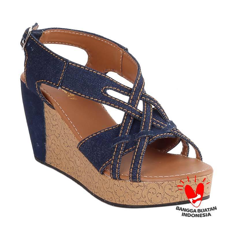harga Blackkelly LOL 327 Gillian Sandal Wedges Blibli.com