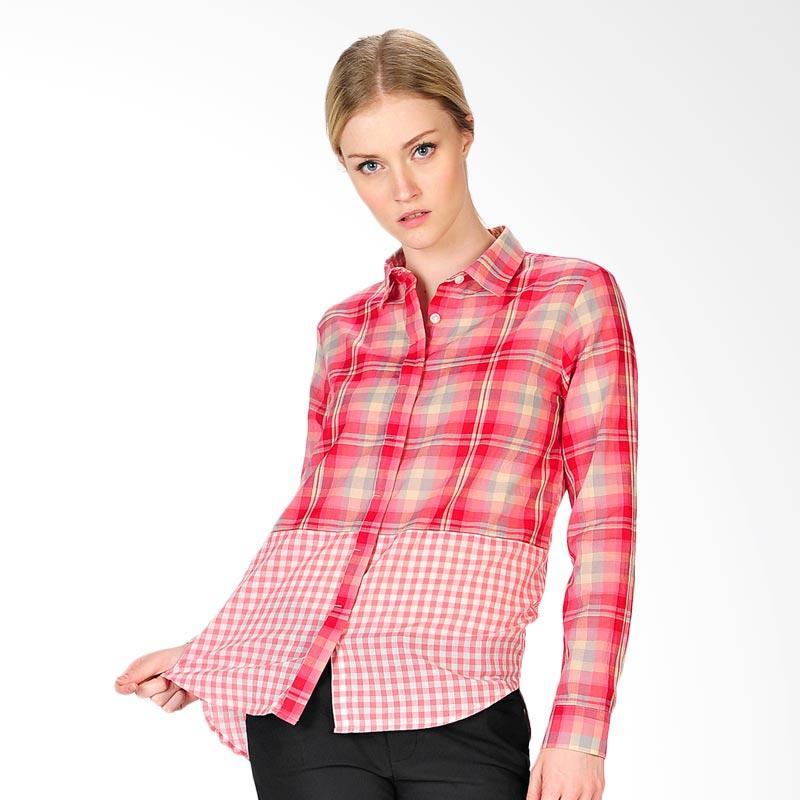 SJO & SIMPAPLY Aversa Check Women's Shirt - Red