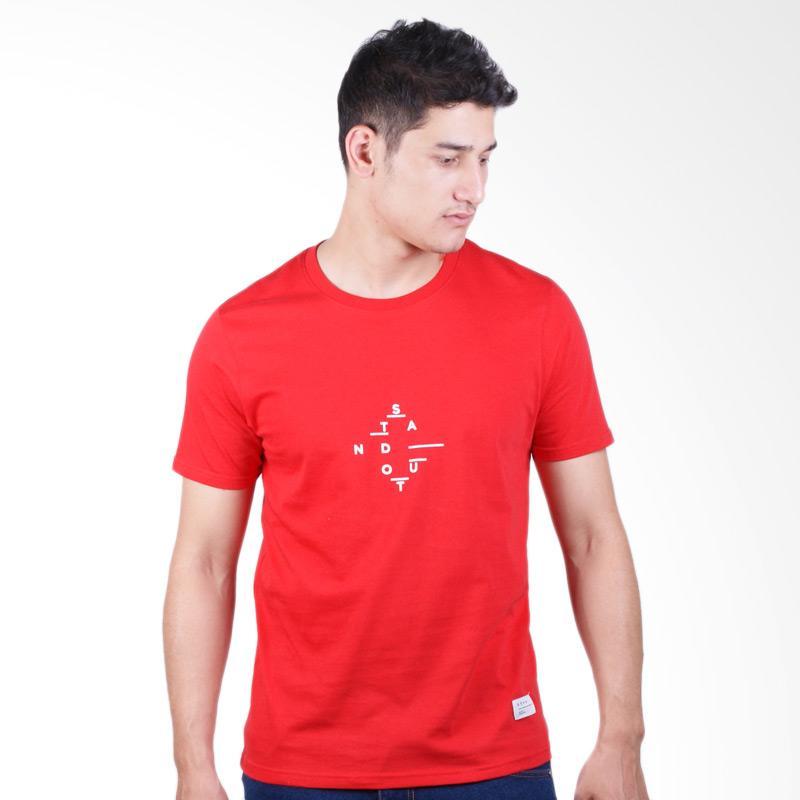 DSVN Axl Printed T-Shirt Kaos Pria - Red Extra diskon 7% setiap hari Citibank – lebih hemat 10% Extra diskon 5% setiap hari