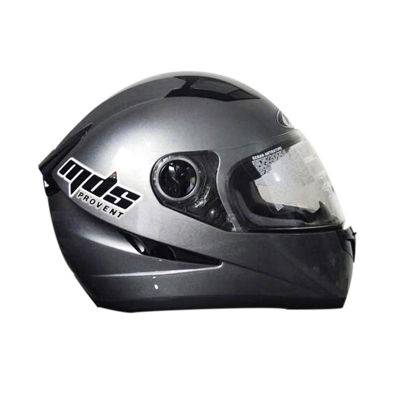 harga MDS Provent Kaca Double Helm Full Face Motor - Grey Blibli.com