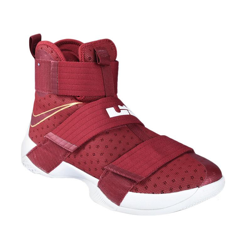 c5019bd8806 Jual nike lebron soldier 10 sepatu basket red 844374 668 cek harga ...