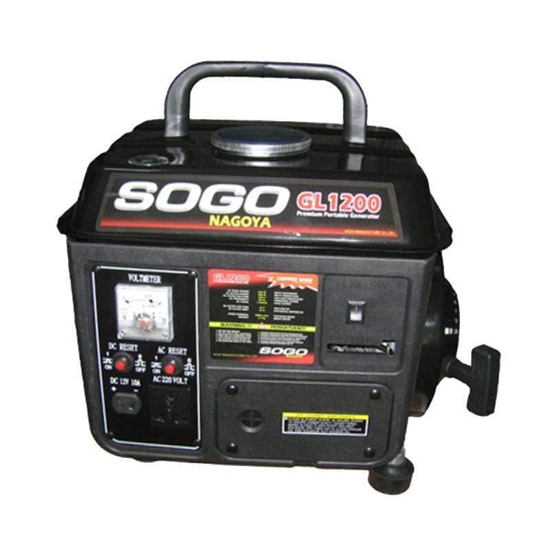 Sogo Nagoya GL1200 Generator Genset - Black [800 W]