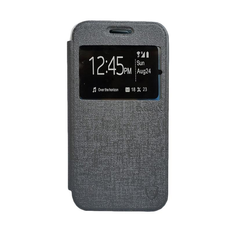 ZAGBOX Flip Cover Casing for Coolpad Star - Abu-abu