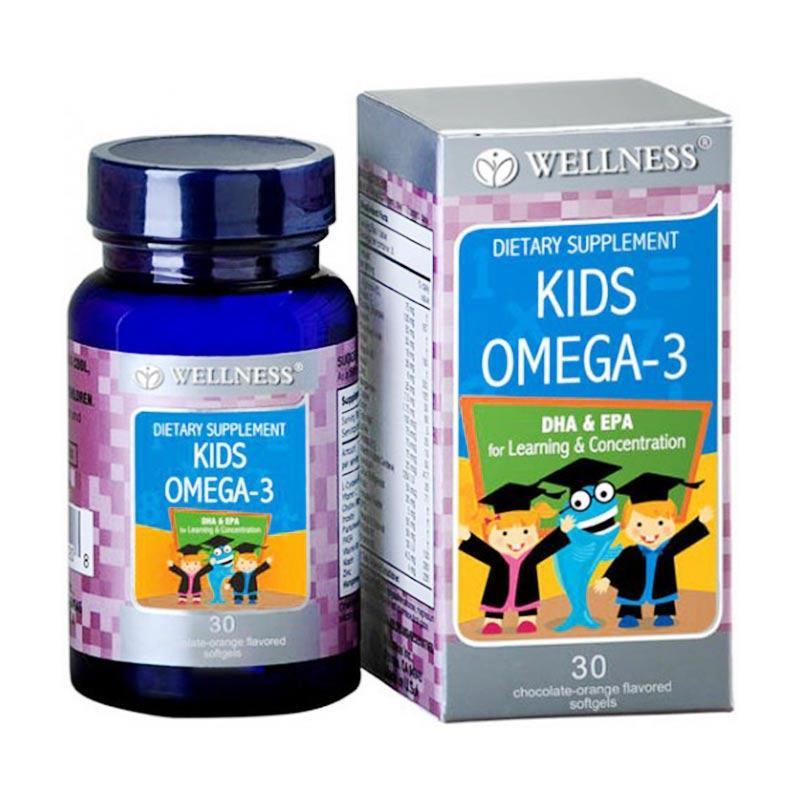 harga Wellness Kids Omega 3 Multivitamin Anak [30 softgels] Blibli.com