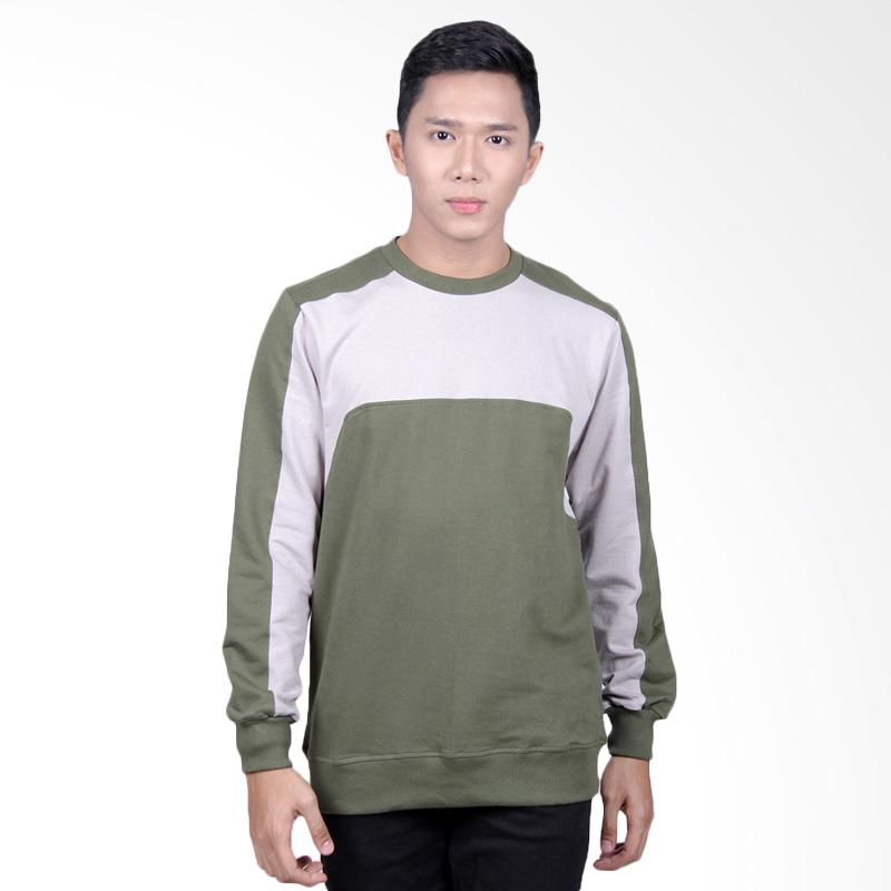 Word.o Lunettes Sweater Pria - Grey Green