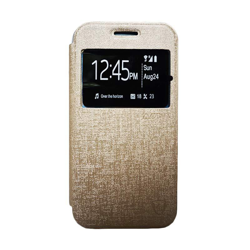Zagbox Flip Cover Casing for Asus Zenfone 2 5 Inch - Gold