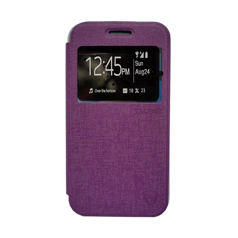 Zagbox Flip Cover Casing for LG G4 stylus - Ungu