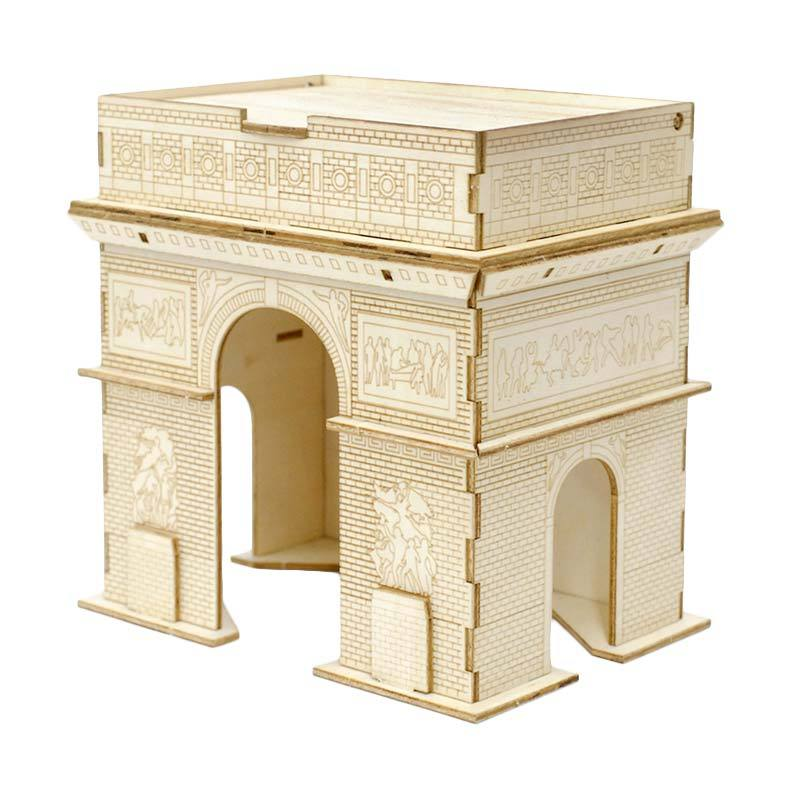 Kigumi 3D Puzzle Kayu Arc De Triomphe Model Kit