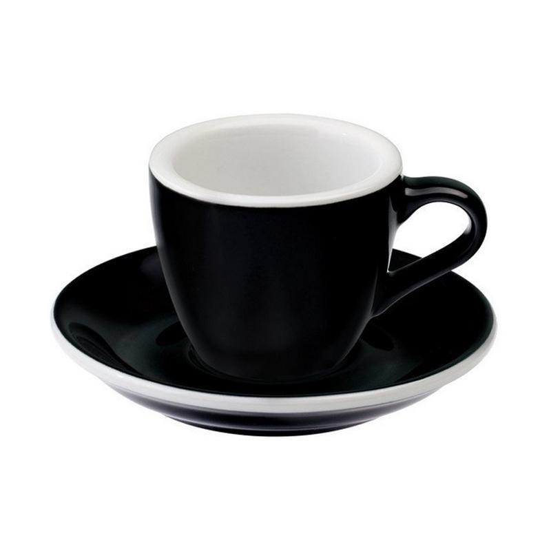 Loveramics Egg Espresso Cup & Saucer - Black [80 mL]