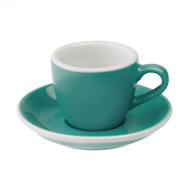 Loveramics Egg Espresso Cup & Saucer - Teal [80 mL]