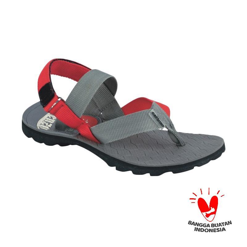 Catenzo JJ 081 Geinwan Flip Flops Sandal Gunung - Grey Red