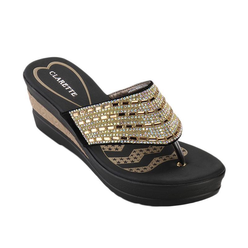 harga Clarette Alexus Wedges Sandals - Gold Blibli.com