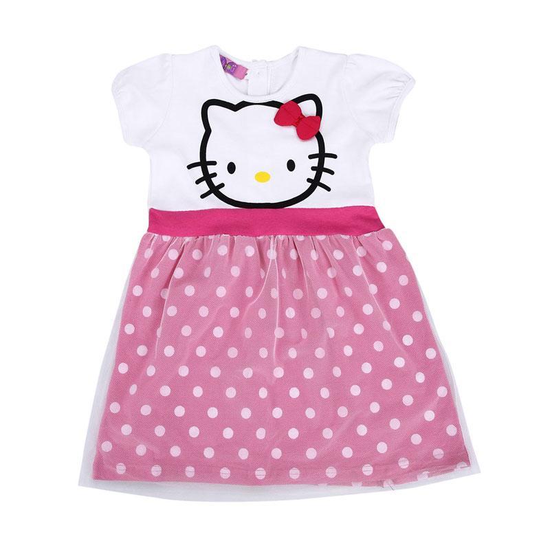 4 You Hello Kitty Print Dress - Fuschia