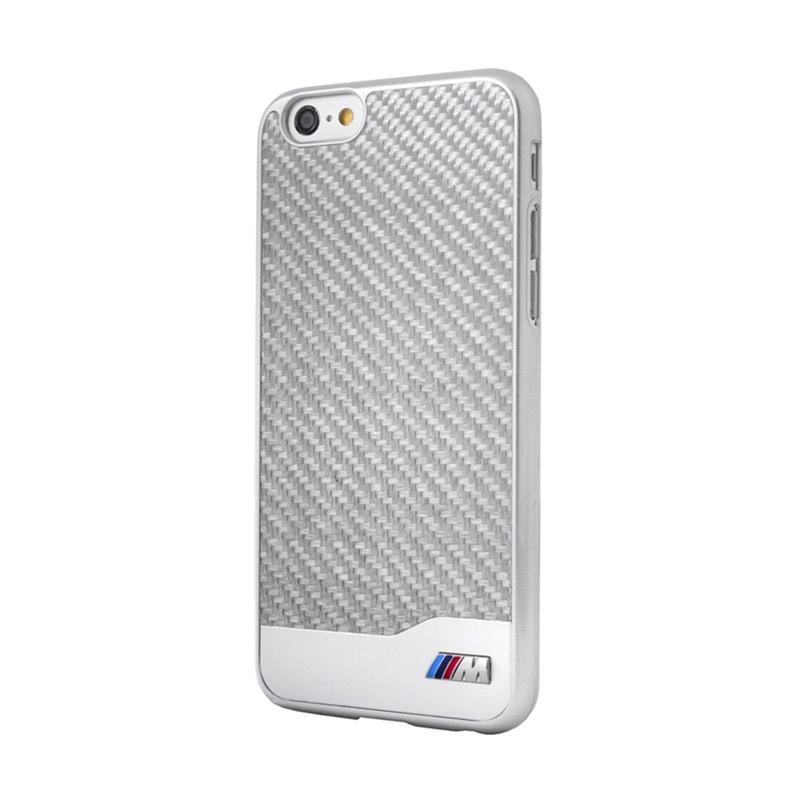 BMW Carbon Alumunium Casing for iPhone 6 - Silver