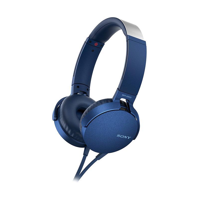 SONY Extra Bass MDR-XB550AP Headset - Biru