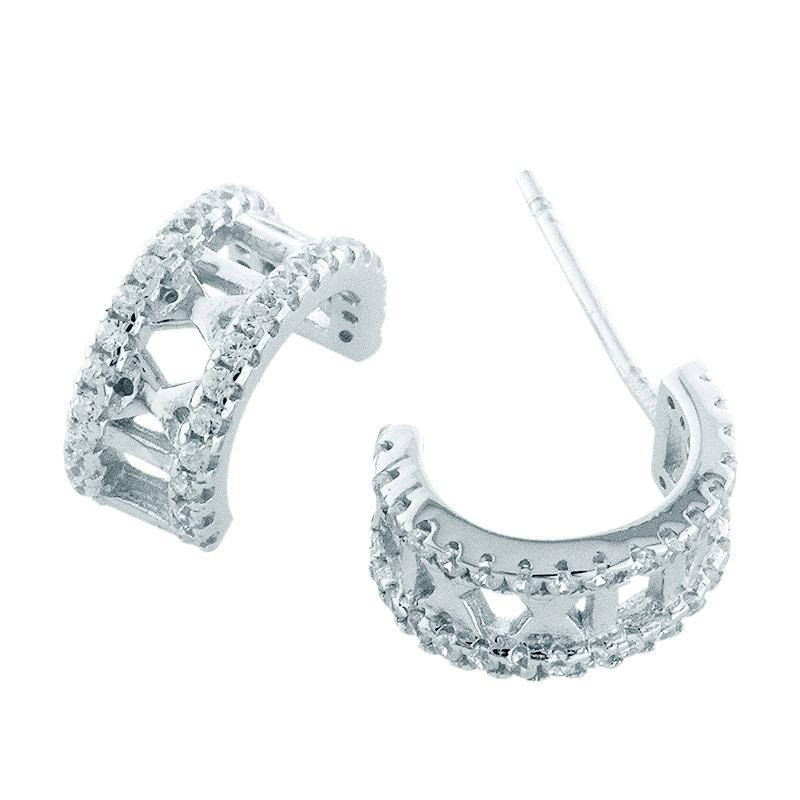 Anna Silver Numeral SWE-0008 Earring