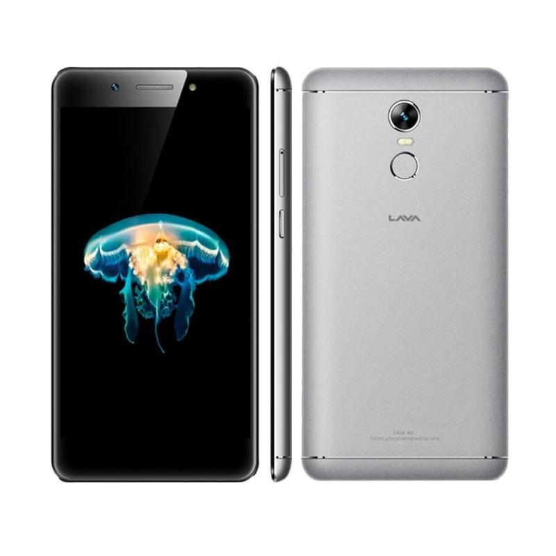 Lava A3 Smartphone - Grey [32GB/3GB/Garansi Resmi]