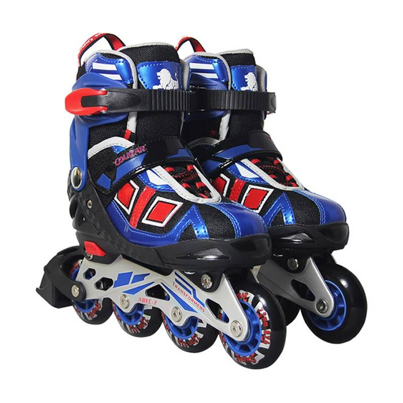 harga Cougar ADJ.Inline Skate W-ABEC7 MZS839 Sepatu Roda - Blue [30-33] Blibli.com