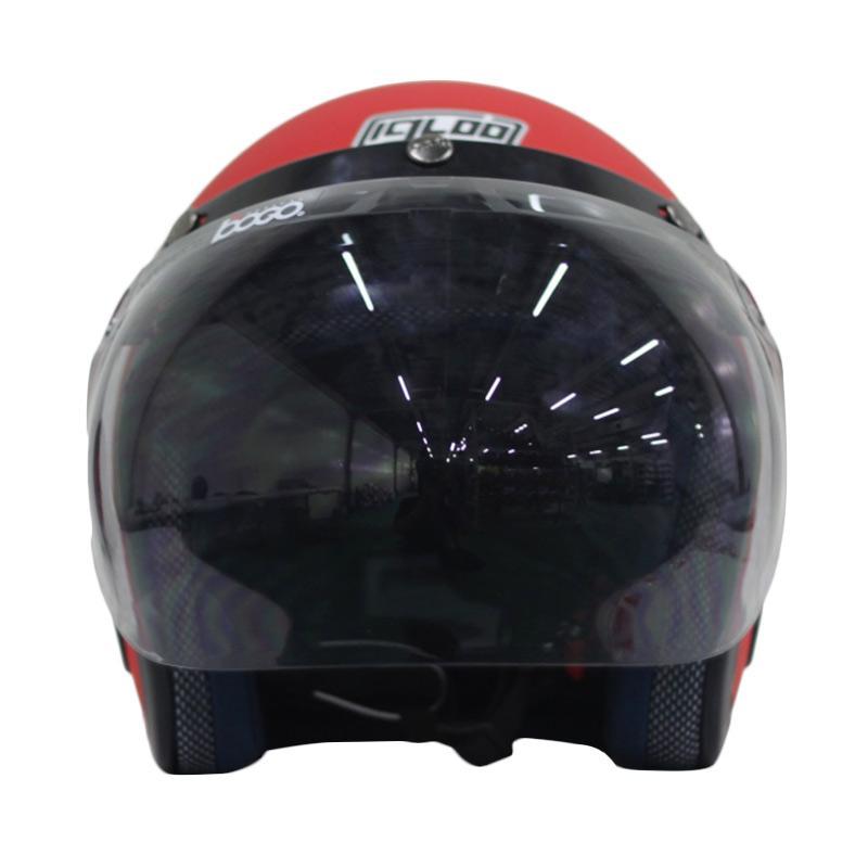 IGLOO Retro Red Ferrari Doff Helm Half Face Extra diskon 7% setiap hari Extra diskon 5% setiap hari Citibank – lebih hemat 10%