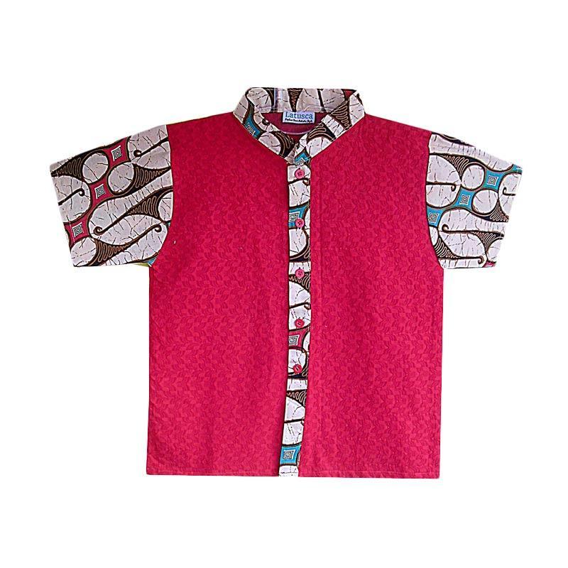 Jual Latusca Davin Baju Koko Batik Anak  Merah Online  Harga