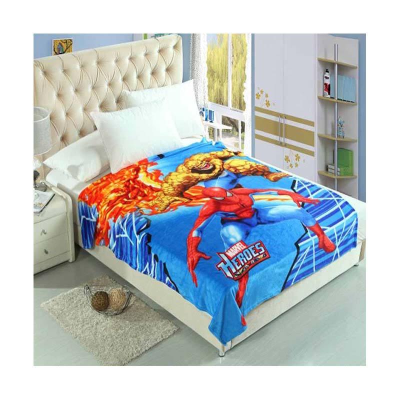 Chelsea Spiderman Heroes Selimut [150 x 200 cm]