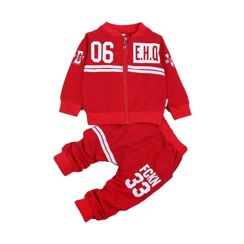 Chloe Babyshop EHQ F972 Setelan Baju Anak - Red