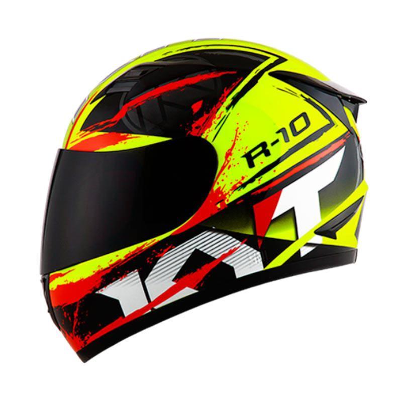 harga KYT R10 #2 Helm Full Face - Yellow Fluo Black Red Blibli.com