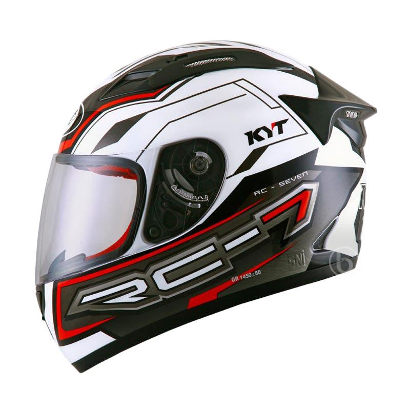 harga KYT-RC Seven #14 Helm Full Face - White Black Red Blibli.com
