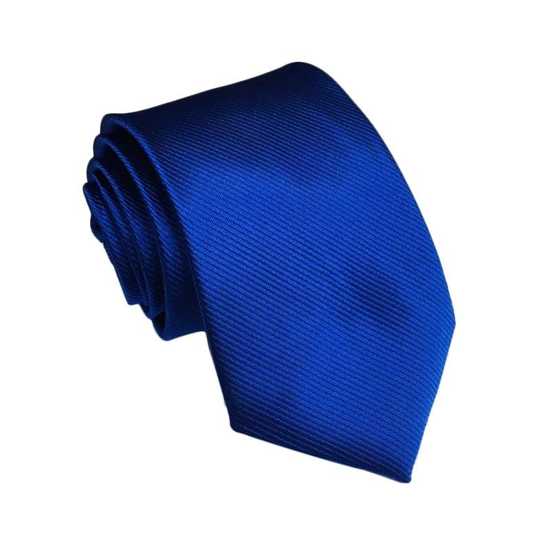 VM Stripe Halus Slim Ties Dasi - Biru