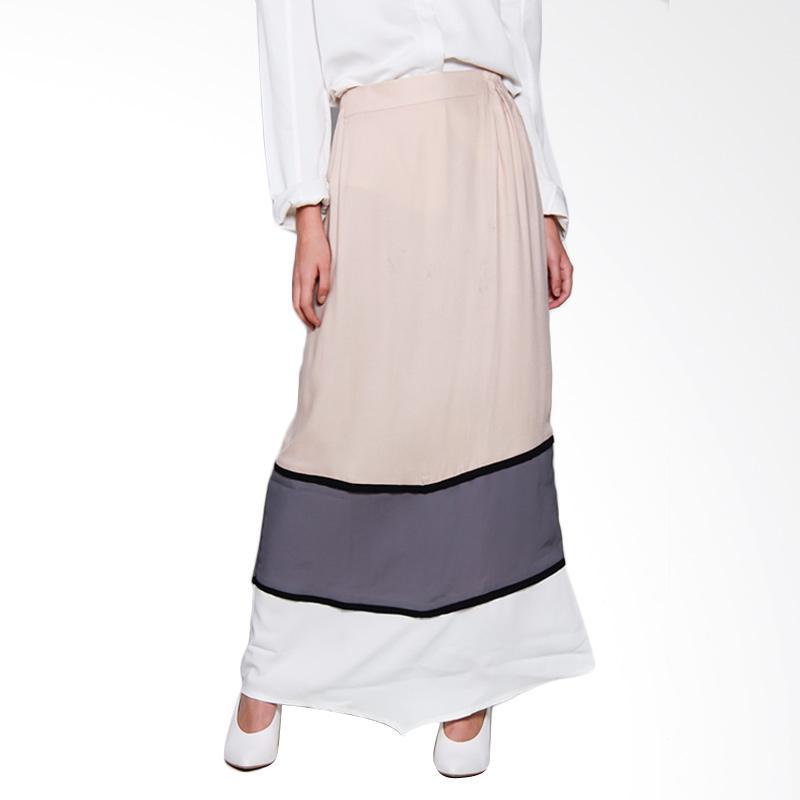 KIA by Zaskia Sungkar Aziza Skirt Bawahan Muslim - Cream