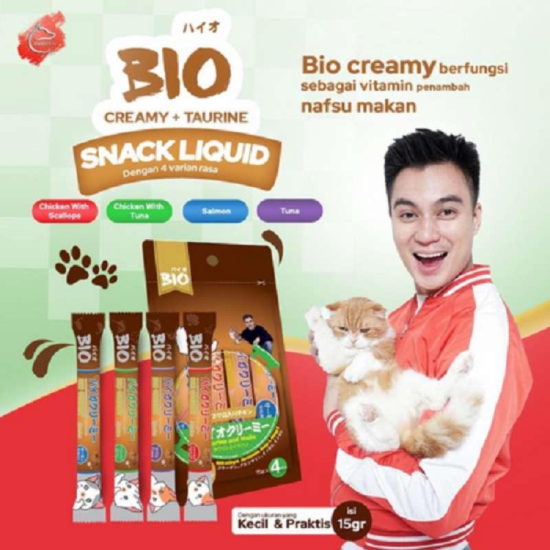 Snack kucing BIO CREAMY liquid Treats kitten Adult Bio creamy cat treat snack cemilan kucing MURAH