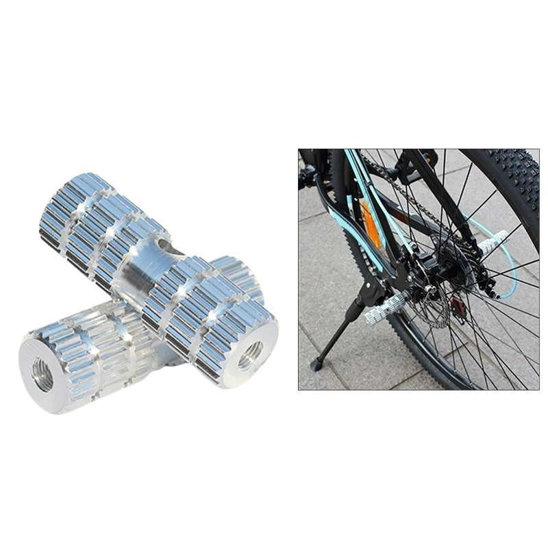 """Silver Durable Aluminum 3//8/"""" Foot Pegs Axle for  Fixed Gear Bike Bicycle 2 PCS"""