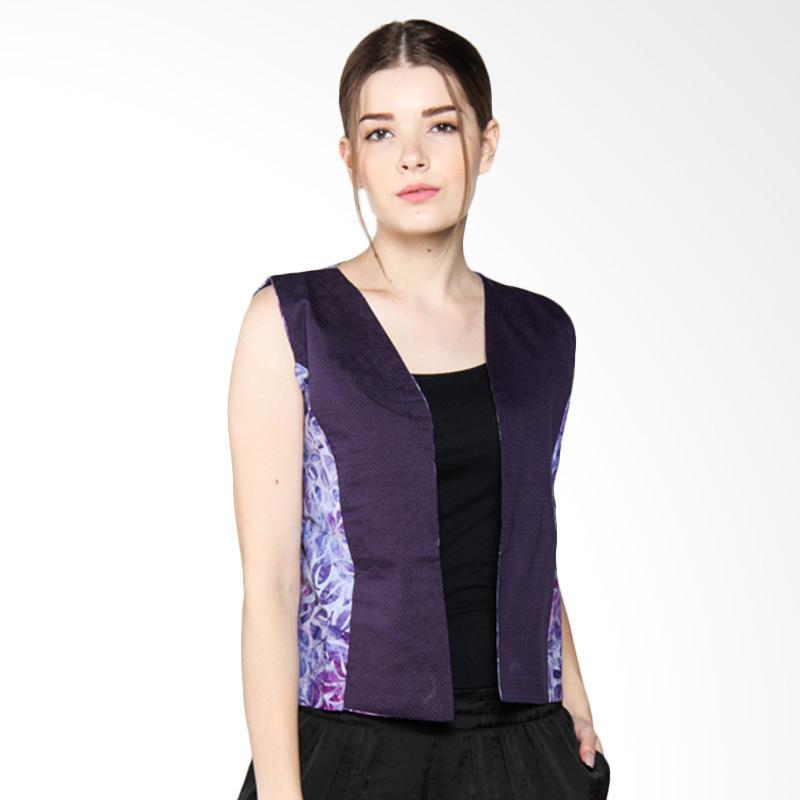 Debra Lunn Cap V Tropical Vine DLWVS0106 Vest Batik Wanita - Purple