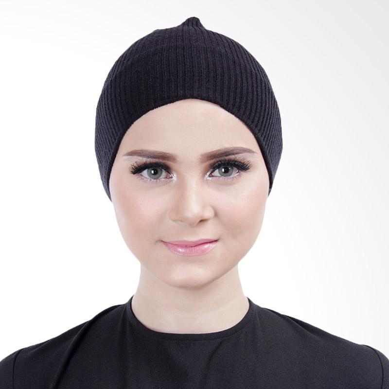 Cantik Kerudung Lizzie Inner Rajut Bandana - Black