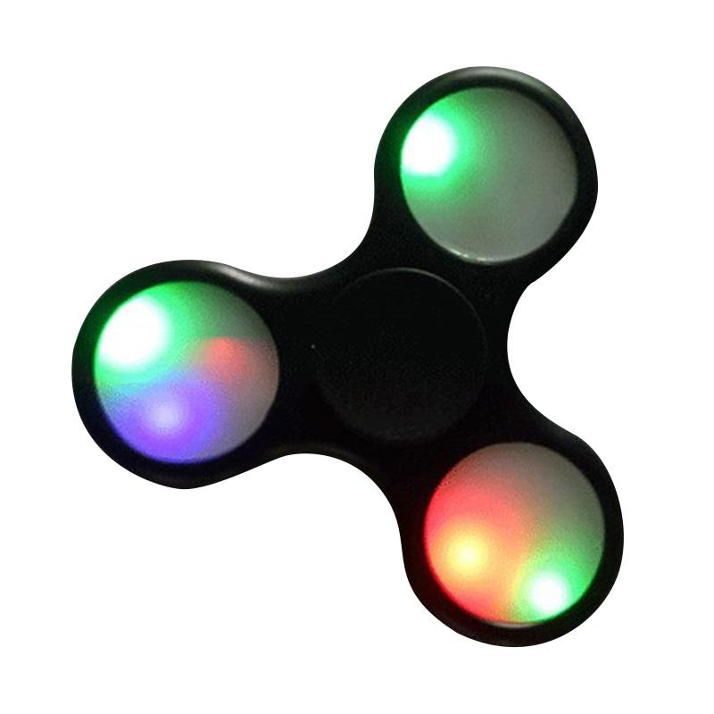 Aimons Model LED Sentuh Disco Fidget Spinner - Hitam
