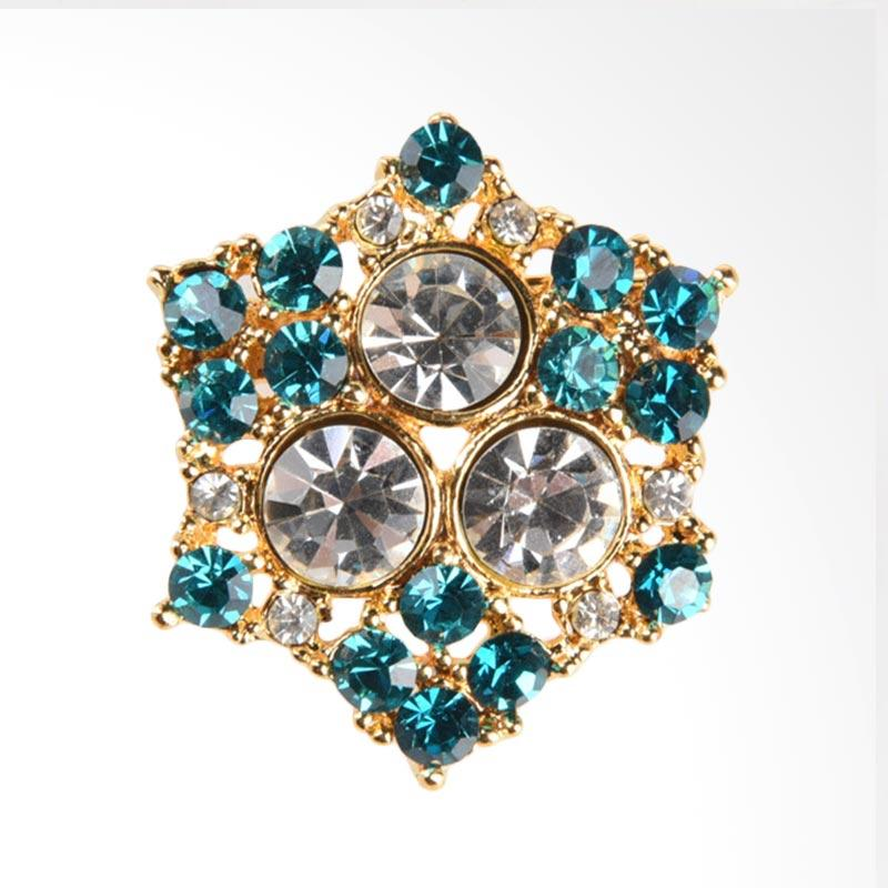 1901 Jewelry Hexagon Brooch BR.1608.HR48 TC - Tosca