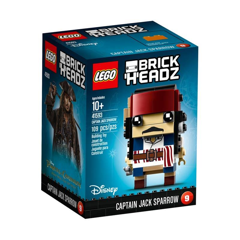 LEGO 41593 BrickHeadz Captain Jack Sparrow Mainan Blok & Puzzle