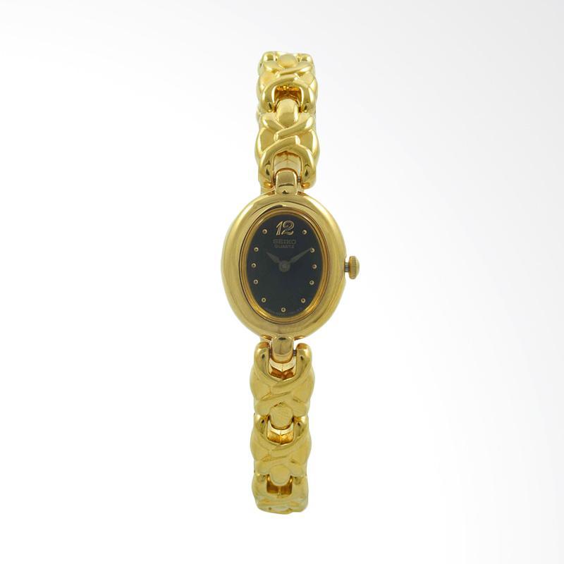 Seiko Jam Tangan Wanita - Gold Black - Stainless Steel - SXN512