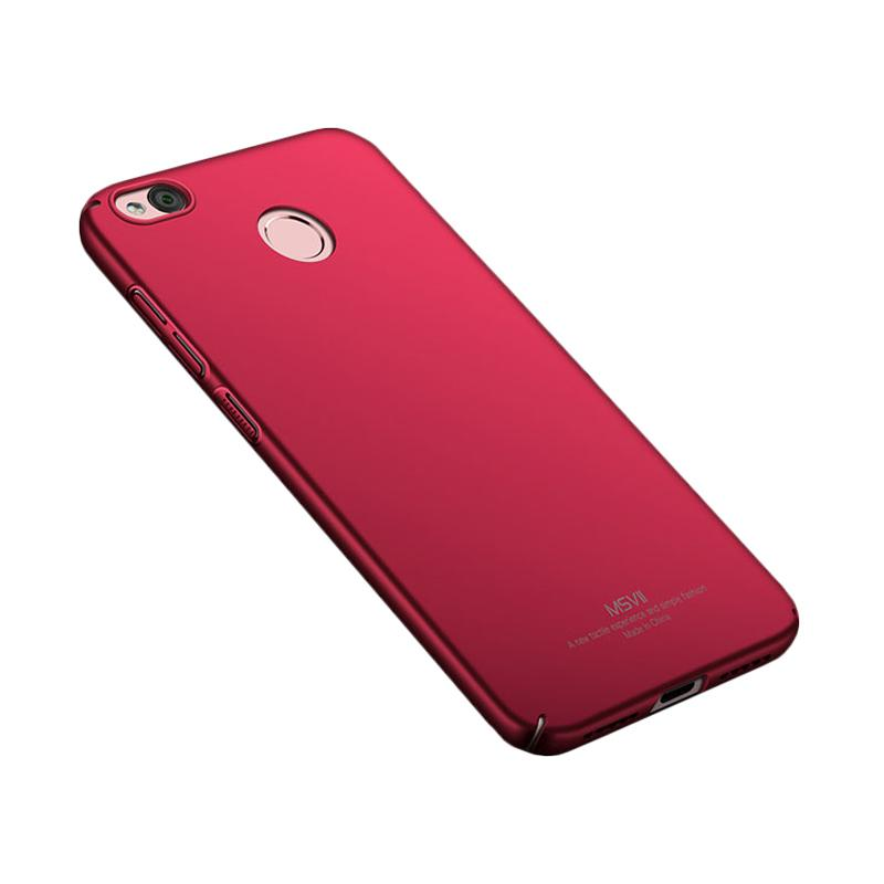 best service 92b52 25d22 MSVII Glossy Original 360 Protection Hardcase Casing for Xiaomi Redmi 4X -  Red