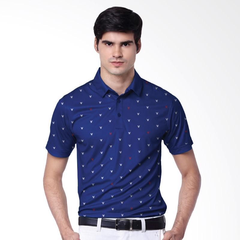 Svingolf Garuda Polo Shirt Baju Golf - Blue Marine