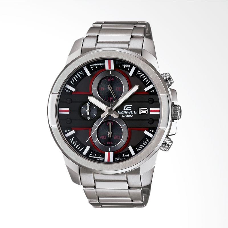 CASIO EDIFICE Chronograph Bahan Tali Stainless Steel Jam Tangan Pria - Silver EFR-543D-1A4VUDF