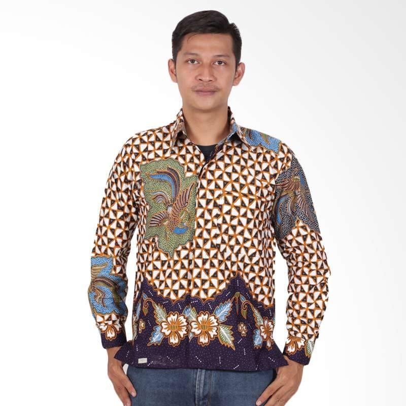 harga Batik Putri Ayu Solo Lengan Panjang Kemeja Batik Pria - Biru KPJ203 Blibli.com