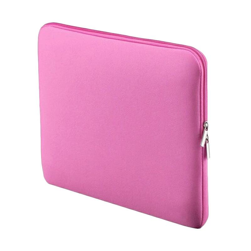 New Neoprene Softcase Ultra Sleeve Tas Laptop - Pink [14 Inch]