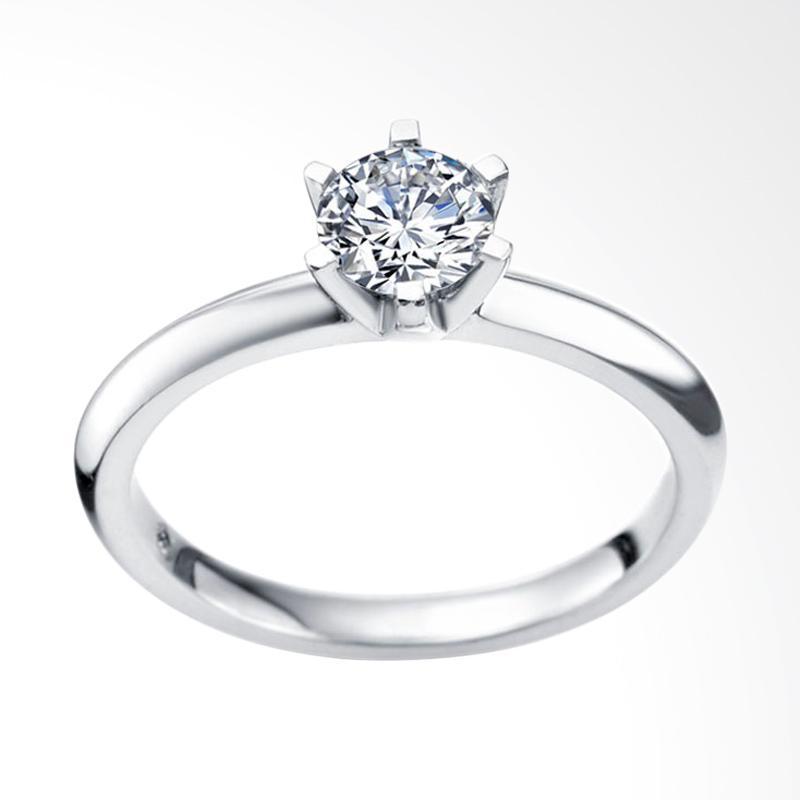 Tiaria Eternity Cincin Kawin Berlian Emas Putih [18K]