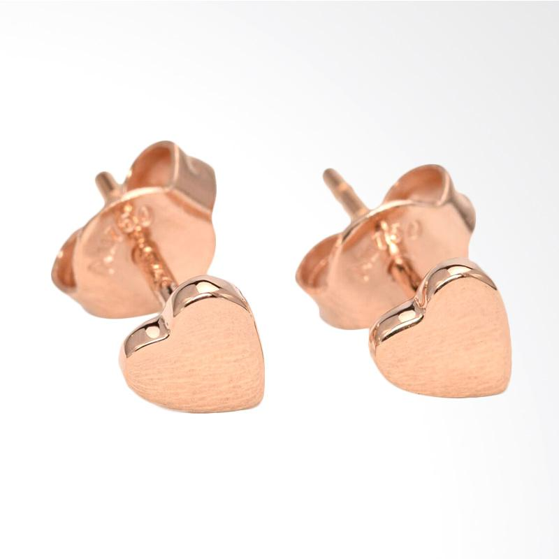 Tiaria Love D3 Earring Anting Emas Perhiasan - Rose Gold