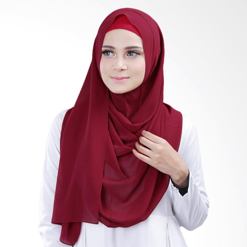 Cantik Kerudung Bella Slip In Jilbab Instant - Maroon No.1