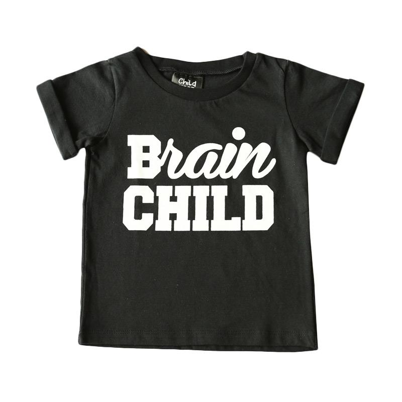Childhood Apparel Brain Child Tee Atasan Anak Laki-Laki - Black