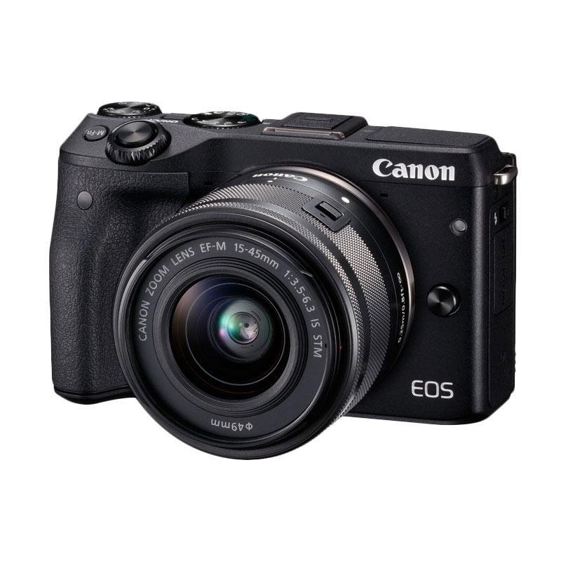 Canon EOS M3 Kit 15-45 IS STM Black (Resmi PT Datascrip) Mirrorless