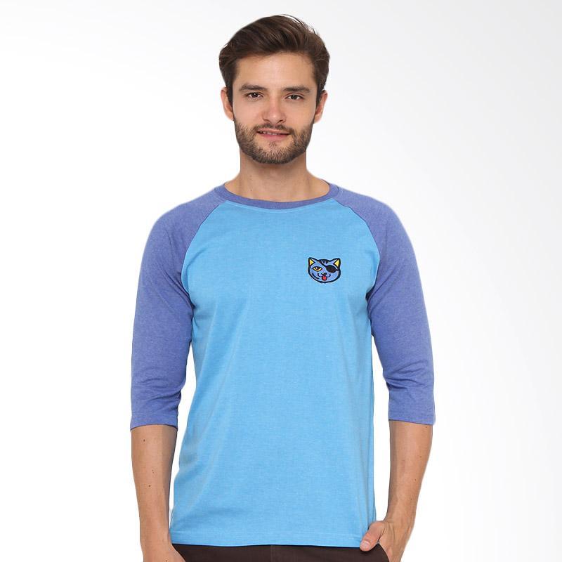 17SEVEN Original Reglan Cat T-shirt Pria - Blue